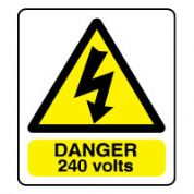 Warn092 - Danger 240 Volts 2